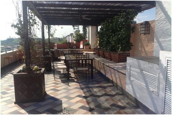 Tico en alquiler en sevilla vega del rey calle las - Pergola terraza atico ...